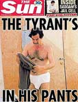 Saddam in underpants