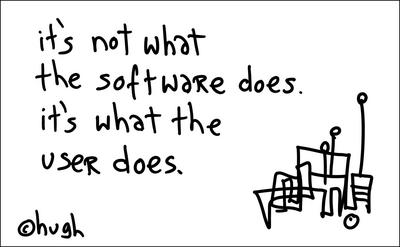 It's not what software does